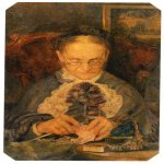 Mikhail Vrubel (1856-1910)  Portrait old Knorre of knitting  1883  The Tretyakov Gallery in Moscow, Russia